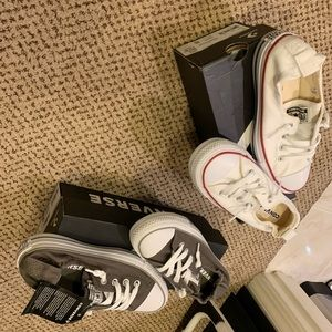 2 pairs.  Converse shoes